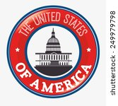 usa design over white... | Shutterstock .eps vector #249979798