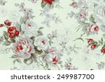 vintage rose fabric background | Shutterstock . vector #249987700
