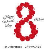 shape eight of red flowers... | Shutterstock .eps vector #249991498