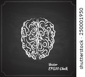 chalk painted brain vector... | Shutterstock .eps vector #250001950