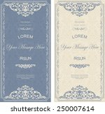 set of antique greeting cards ... | Shutterstock .eps vector #250007614