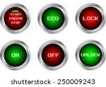 vector button symbol isolate | Shutterstock .eps vector #250009243