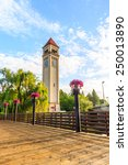 Clock Tower In Riverfront Park...