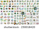 huge mega set of infographic... | Shutterstock .eps vector #250018420