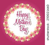 mothers day design  vector... | Shutterstock .eps vector #250021660