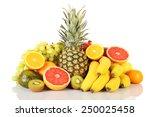 assortment of exotic fruits... | Shutterstock . vector #250025458