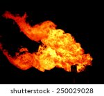 gas burn or flare burn in... | Shutterstock . vector #250029028