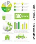 ecology info graphics. vector   Shutterstock .eps vector #250036186