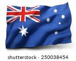 waving flag of australia... | Shutterstock . vector #250038454