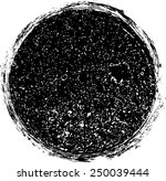 vector grunge circle .  rubber... | Shutterstock .eps vector #250039444