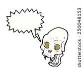 cartoon spooky vampire skull...   Shutterstock . vector #250048153