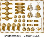 set of commercial sale stickers ... | Shutterstock .eps vector #250048666
