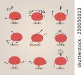 brain character | Shutterstock .eps vector #250050313