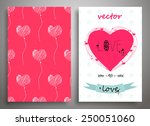 set of seamless pattern and... | Shutterstock .eps vector #250051060