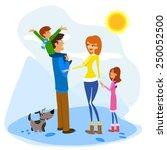 illustration of a family... | Shutterstock .eps vector #250052500