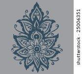 hand drawn henna mehndi design | Shutterstock .eps vector #25006351