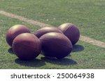 american football balls. | Shutterstock . vector #250064938