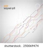 high tech  background | Shutterstock .eps vector #250069474