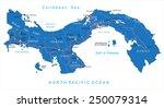 panama map   Shutterstock .eps vector #250079314