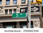 fifth avenue green sign 5 th av ... | Shutterstock . vector #250081540