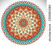 mandala. vintage decorative... | Shutterstock .eps vector #250084384