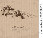 snow peak. hand drawn vector... | Shutterstock .eps vector #250100713
