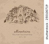 mountains. hand drawn vector...   Shutterstock .eps vector #250100719