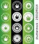 Marijuana Cannabis Leaf Symbol...