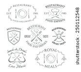set of heraldic restaurant... | Shutterstock . vector #250112548