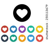 heart icon | Shutterstock .eps vector #250113679