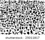 biggest collection of collage... | Shutterstock .eps vector #25011817