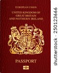 vector united kingdom passport... | Shutterstock .eps vector #250123666