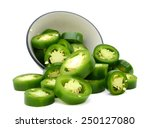 Sliced Jalapeno Peppers In Bowl