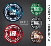 metallic best choice 100 ... | Shutterstock .eps vector #250135078