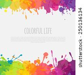 bright abstract banner with... | Shutterstock .eps vector #250136134