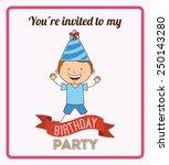 happy birthday design  vector... | Shutterstock .eps vector #250143280