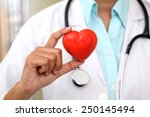 female doctor holding a... | Shutterstock . vector #250145494