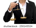 businesswoman holding the... | Shutterstock . vector #250145524