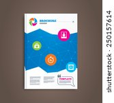 brochure or flyer design. photo ...   Shutterstock .eps vector #250157614