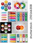 colorful modern text box... | Shutterstock .eps vector #250166308