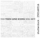thin line icons exclusive xxl... | Shutterstock .eps vector #250168516