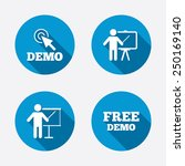 demo with cursor icon.... | Shutterstock .eps vector #250169140