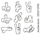hands in gloves cartoon  | Shutterstock . vector #250171990