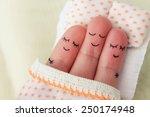 finger art. happy man sleeps...   Shutterstock . vector #250174948