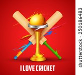 illustration of golden trophy... | Shutterstock .eps vector #250186483