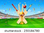 illustration of stadium of... | Shutterstock .eps vector #250186780