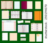 collection of vector notebooks  | Shutterstock .eps vector #250194070