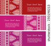 set of colorful vintage... | Shutterstock .eps vector #250198213
