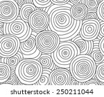 abstract doodles circle... | Shutterstock .eps vector #250211044