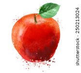 apple vector logo design... | Shutterstock .eps vector #250213024
